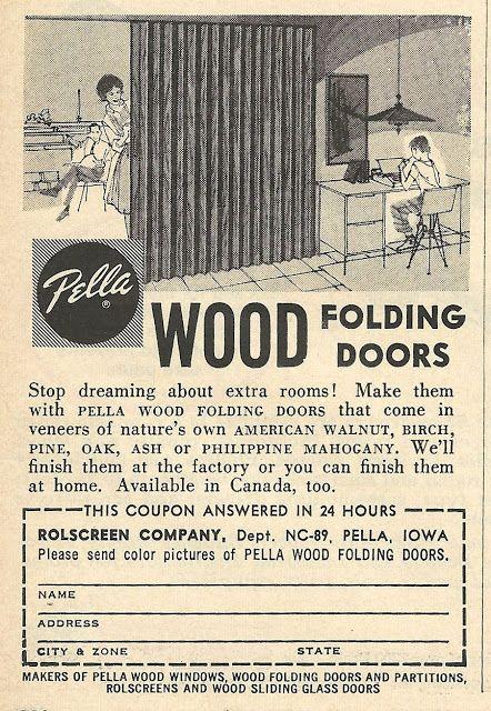 1962 Pella Wood Folding Doors ad