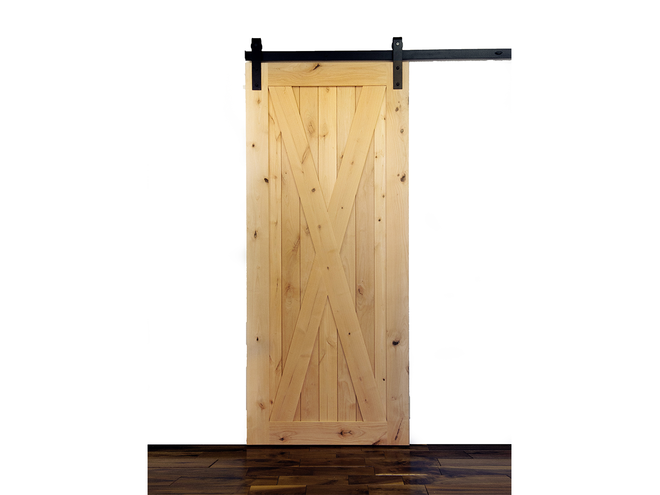 Krosswood Knotty Alder 1 Panel Single X Solid Wood Core Barn Door Slab Barn Door Wood Barn Door Wood Doors Interior