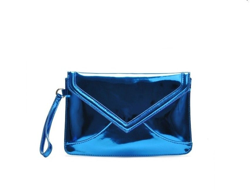 Simple Color Smooth Surface PU Clutch Bag