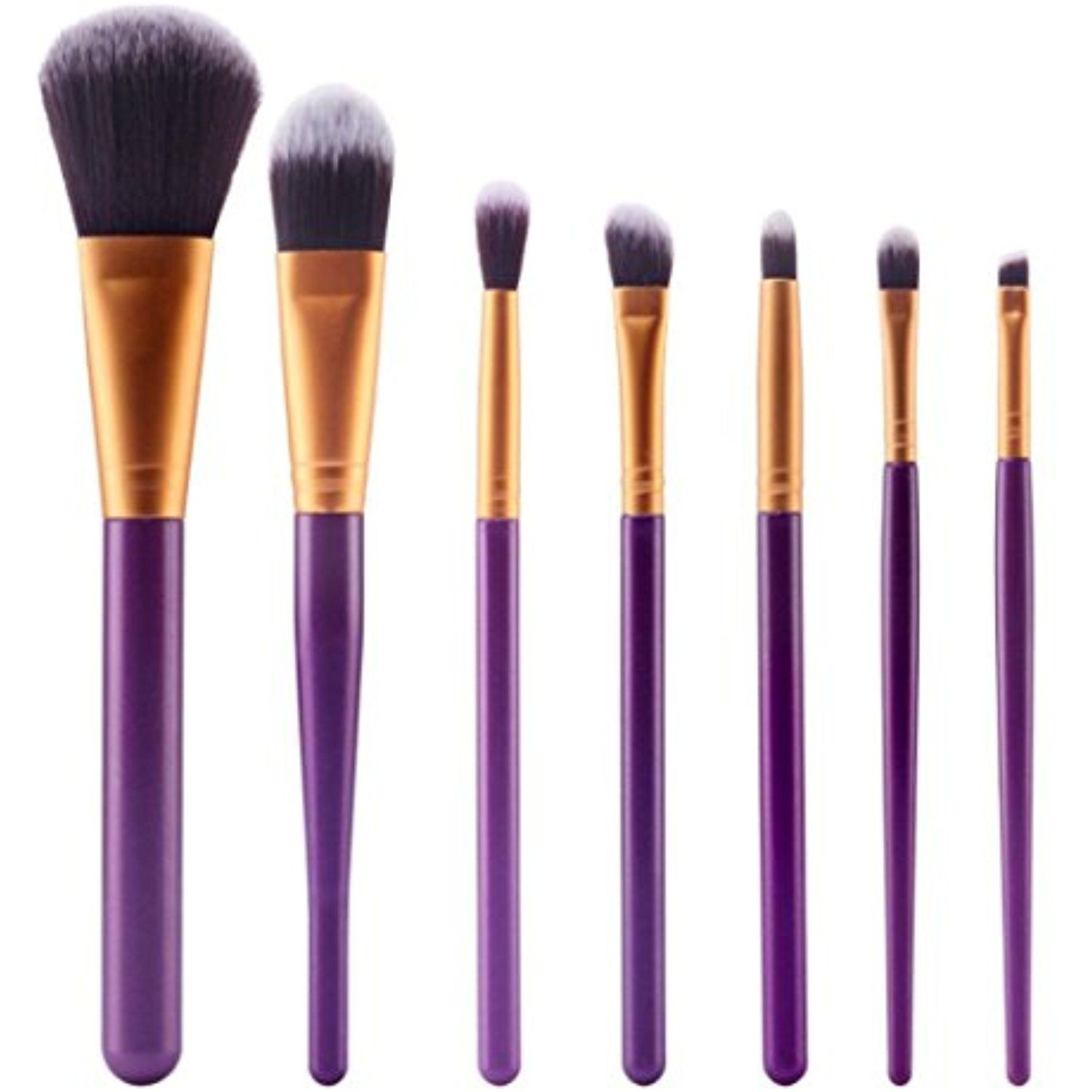 AutumnFall 7Pcs Cosmetic Brush Makeup Brush Sets Kits