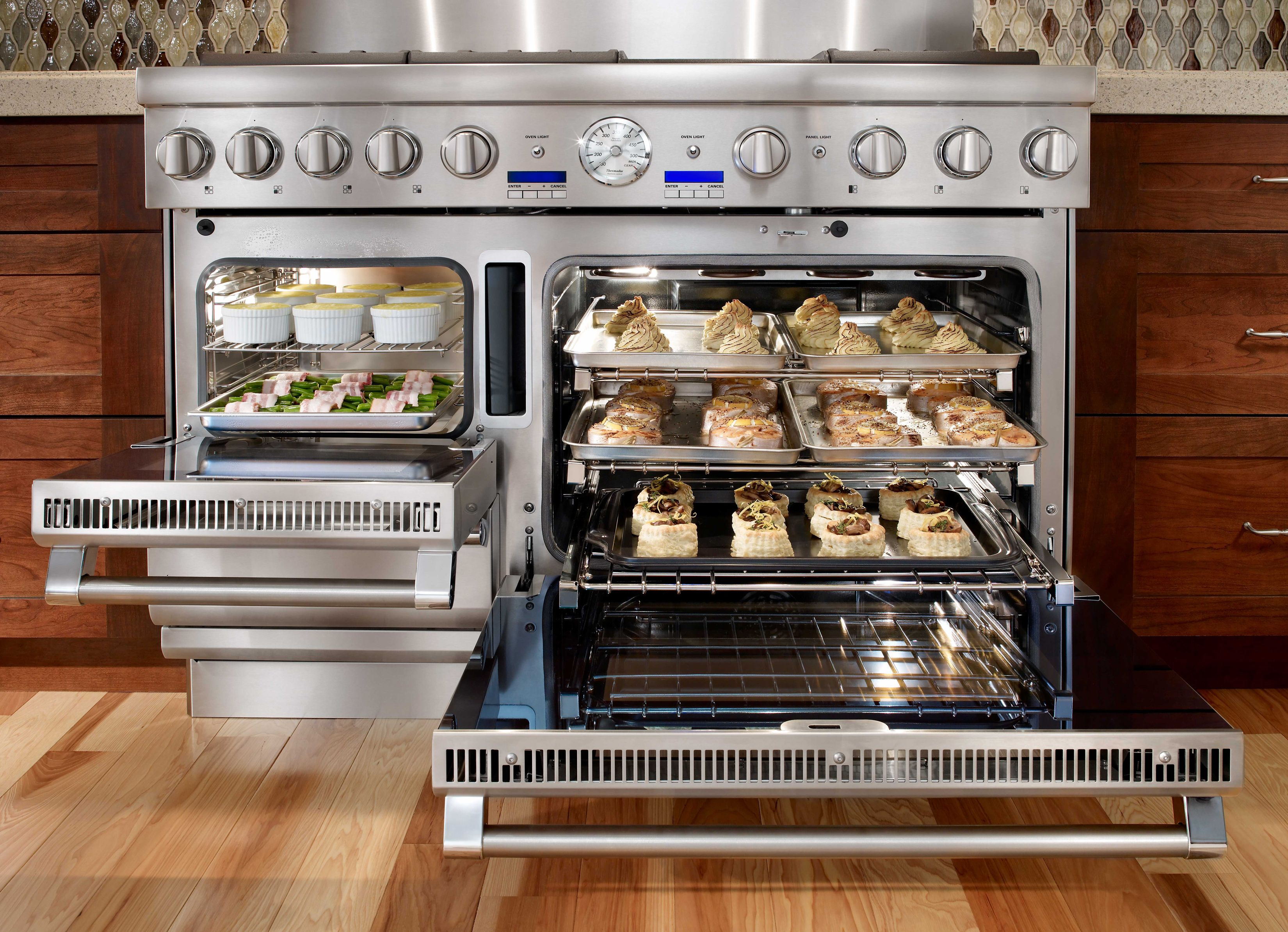 gourmet stoves and ovens | team let us loose in the cooking center ...