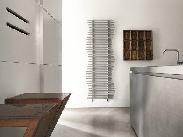 Vertical wall-mounted steel towel warmer SEA Fine Design Collection ...