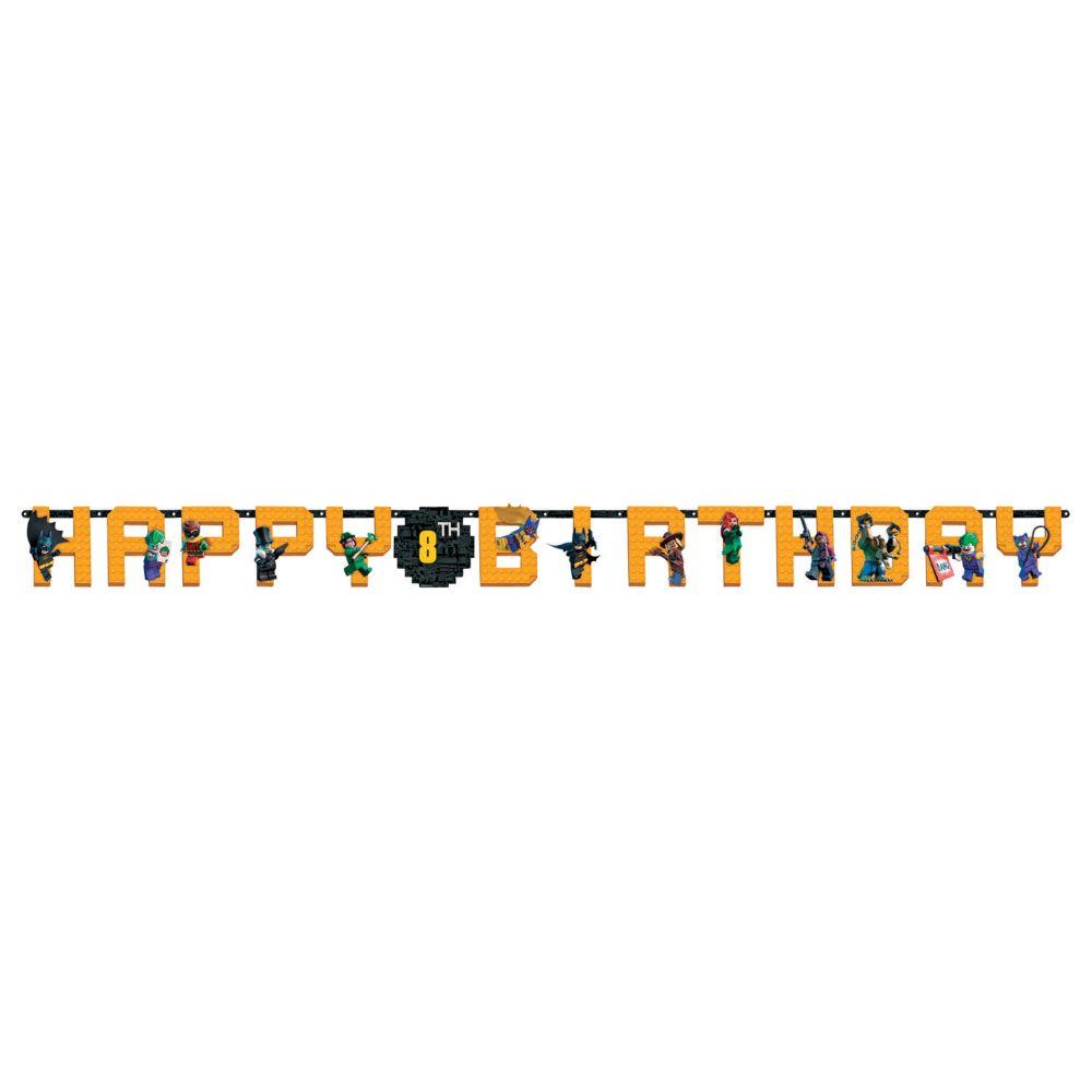 Lego Batman Jumbo Custom Age Letter Banner Printed Paper Birthday Party Supplies
