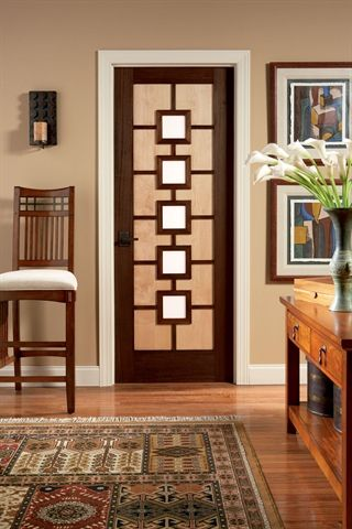 Ad1050 In Mahogany And Maple With White Lami Glass Art Deco