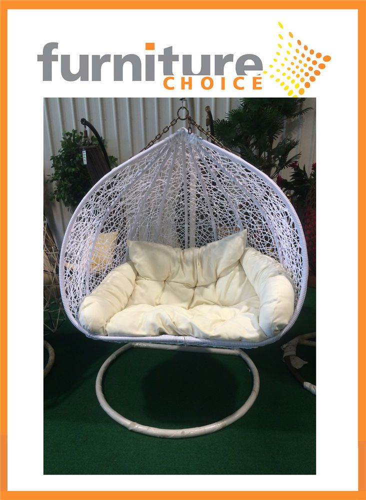 Brand New White Color Hanging Egg Swing Chair With Stand