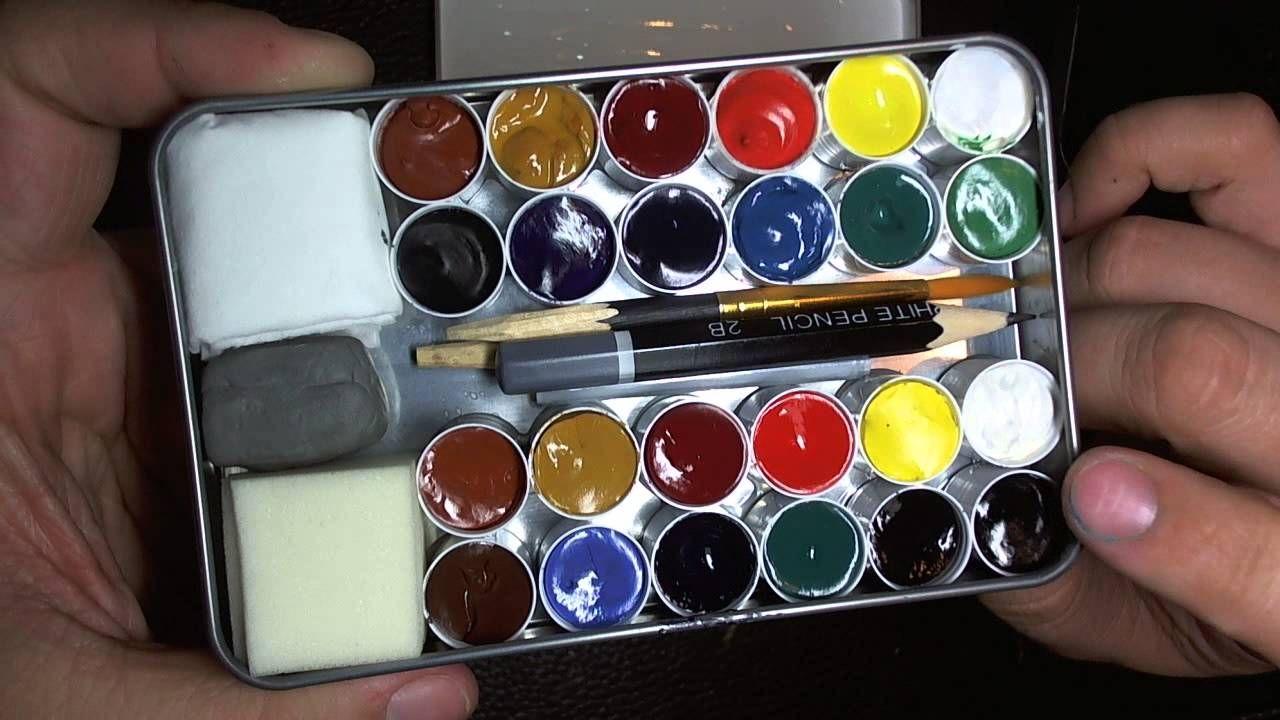 Diy Watercolor Travel Set Gouache Diy Watercolor Gouache