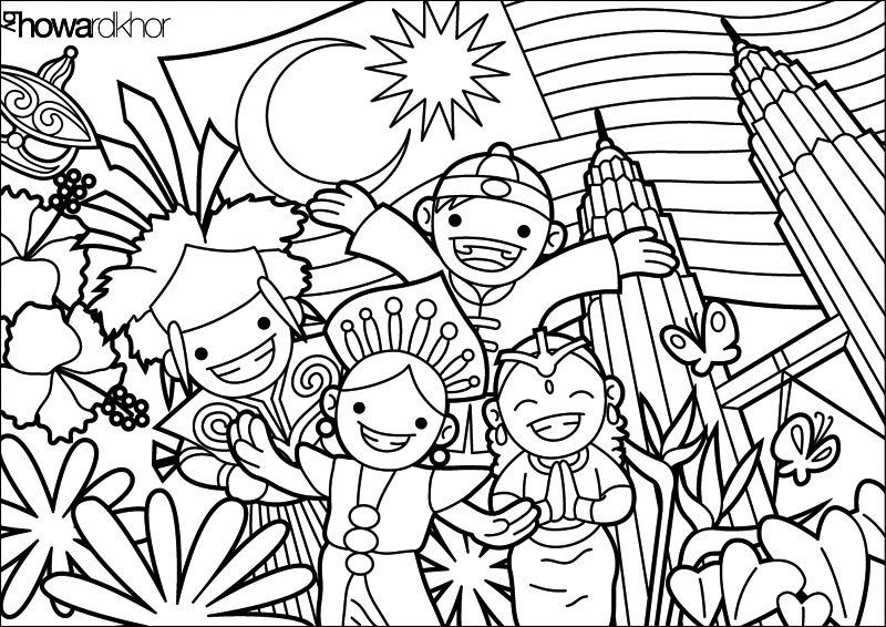 Malaysia To Color Coloring Pages Coloring Sheets For Kids Free