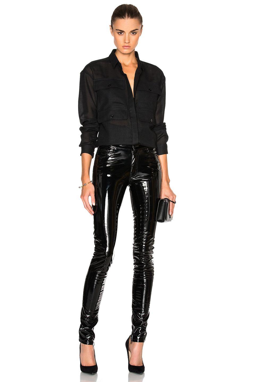 Image 5 of Anthony Vaccarello 4 Pocket Long Sleeve Shirt in Black