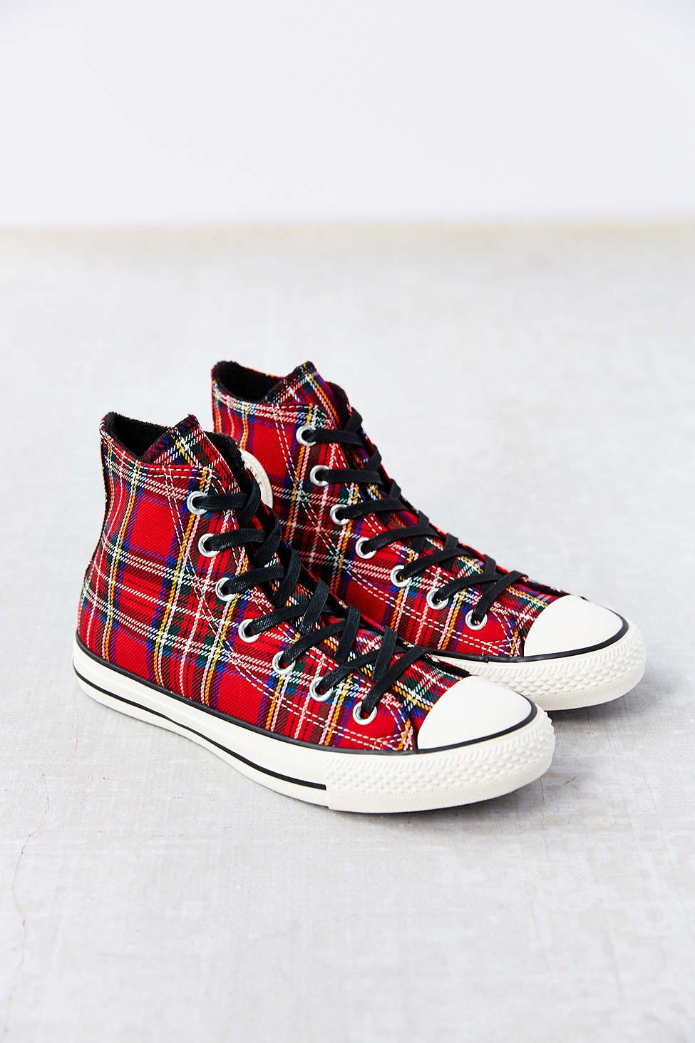 58f6891bce8 Conserve Chuck Taylor All Star Red Tartan Women s High-Top Sneakers ...