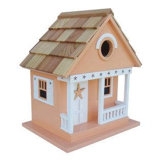 Home Bazaar - Starfish Cottage, Beige - Treat the birds in your backyard to a beach house of their own. This starfish-themed cottage in goes... http://socialaffiliate.wix.com/bird-houses