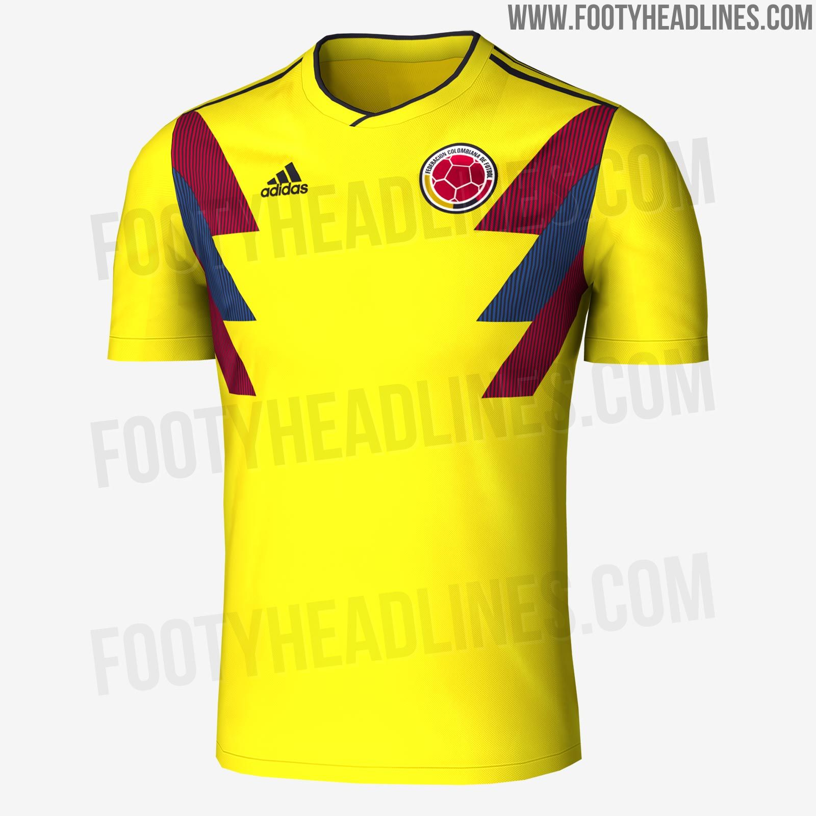 The Colombia 2018 World Cup Kit Introduces A Bold Design Inspired By Fashion Big Size T Shirt Spain 3xl 1990 Jersey