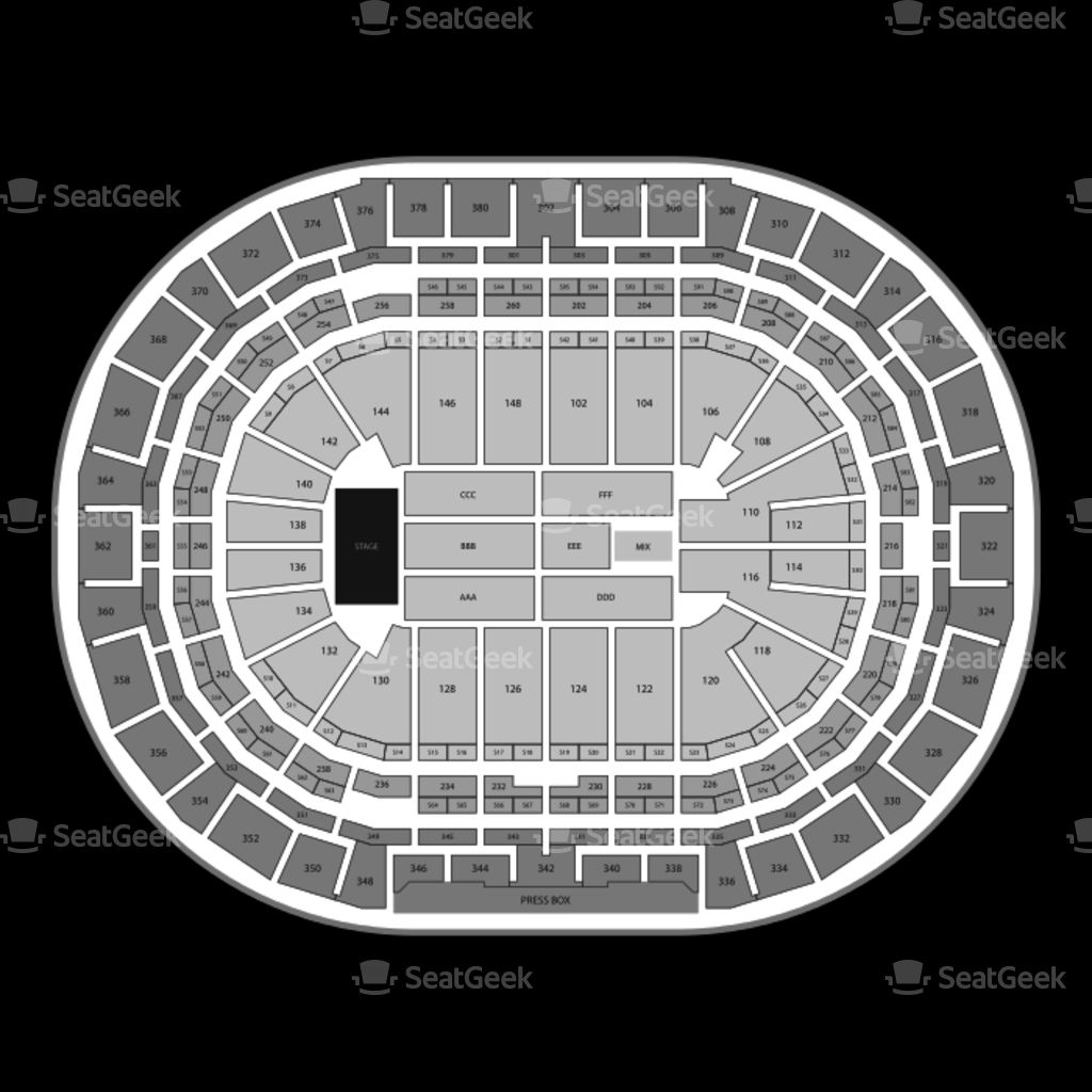 Pepsi Center Seating Chart Hockey Di 2020