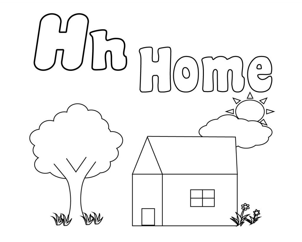 Letter H Coloring Pages For Preschoolers Coloring Pages Free Coloring Pages Free Coloring