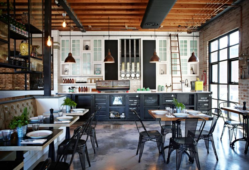 i want an industrial rustic kitchen in my smart home