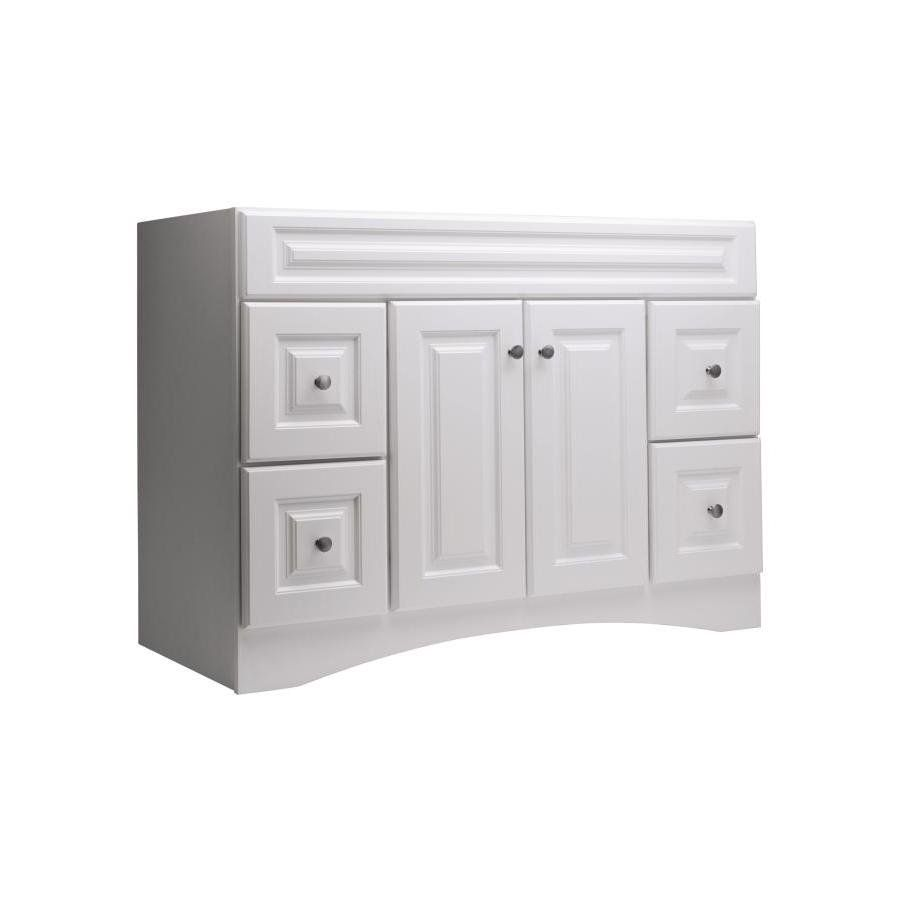 $358 Style Selections 48In White Northrup Traditional Bath Vanity Magnificent Bathroom Vanities At Lowes Decorating Design