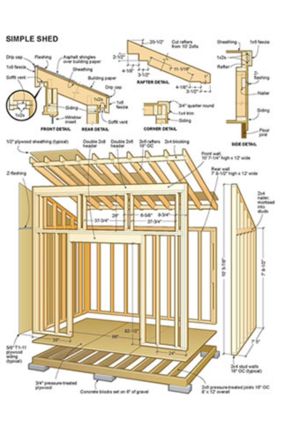 Now You Can Build A Brand New Shed In Under A Week Following This Step By Step Guides In 2020 Small Shed Plans Building A Shed Simple Shed