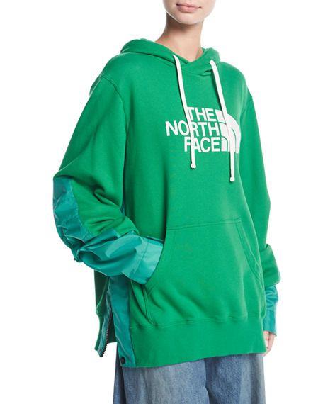 77a62da54 SACAI THE NORTH FACE® SIDE-ZIP HOODIE SWEATSHIRT, GREEN. #sacai #cloth #