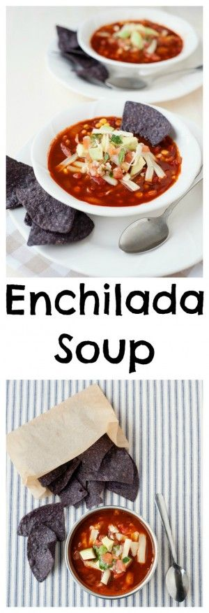 Looking for a new soup to add to your winter meal rotation? Warm your family with the familiar flavors of cumin, chile powder and smoky paprika in this Enchilada Soup Recipe that comes together in minutes.