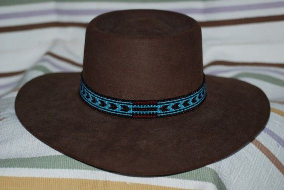 Beaded Hat Band Patterns For Any Guy From Your Musician Buddy To Your Rodeo Cousin To Your Beaded Hat Bands Hat Bands Beaded Hat