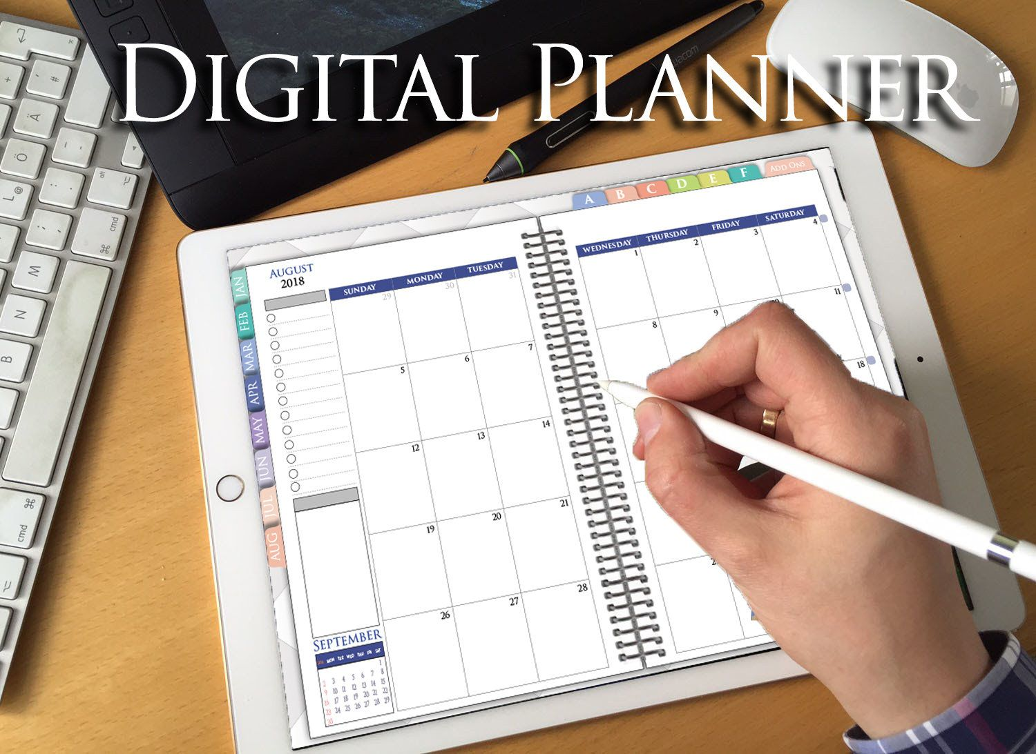 Digital Planner 2018 Goodnotes Ipad Pro Vertical Weekly