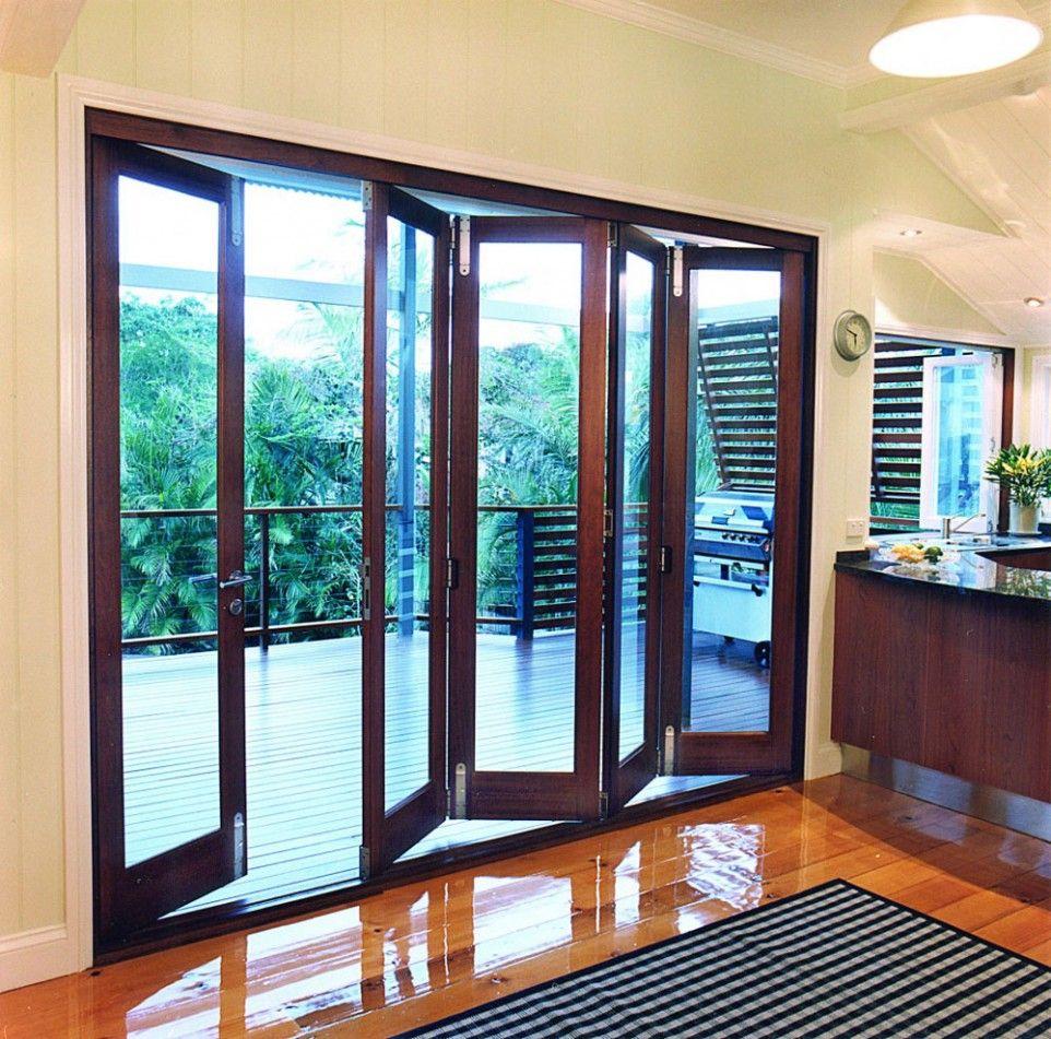Exterior Attractive Accordion Glass Doors Nice Look Of Accordion