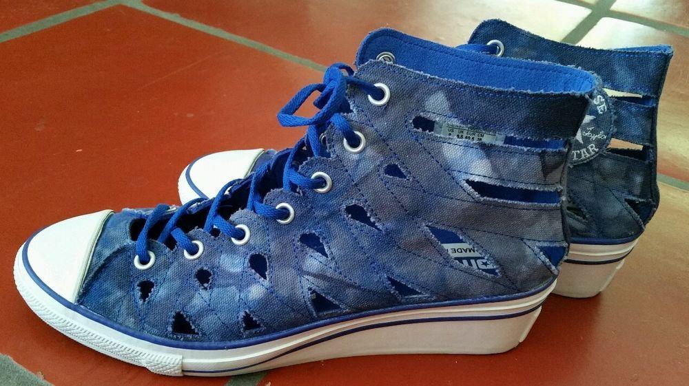 b64083ac473fbd Converse Hi-Ness Cut Out Wedge Tie-Dye Blue sz 9 Chuck Taylor All Star High  Top  Converse  FashionSneakers