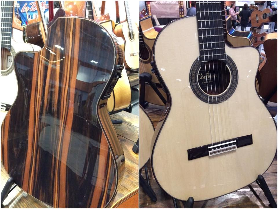 Cordoba Guitars' new España 55FCE Negra flamenco guitar is built in Spain by master luthiers and features stunning Macassar ebony back and sides