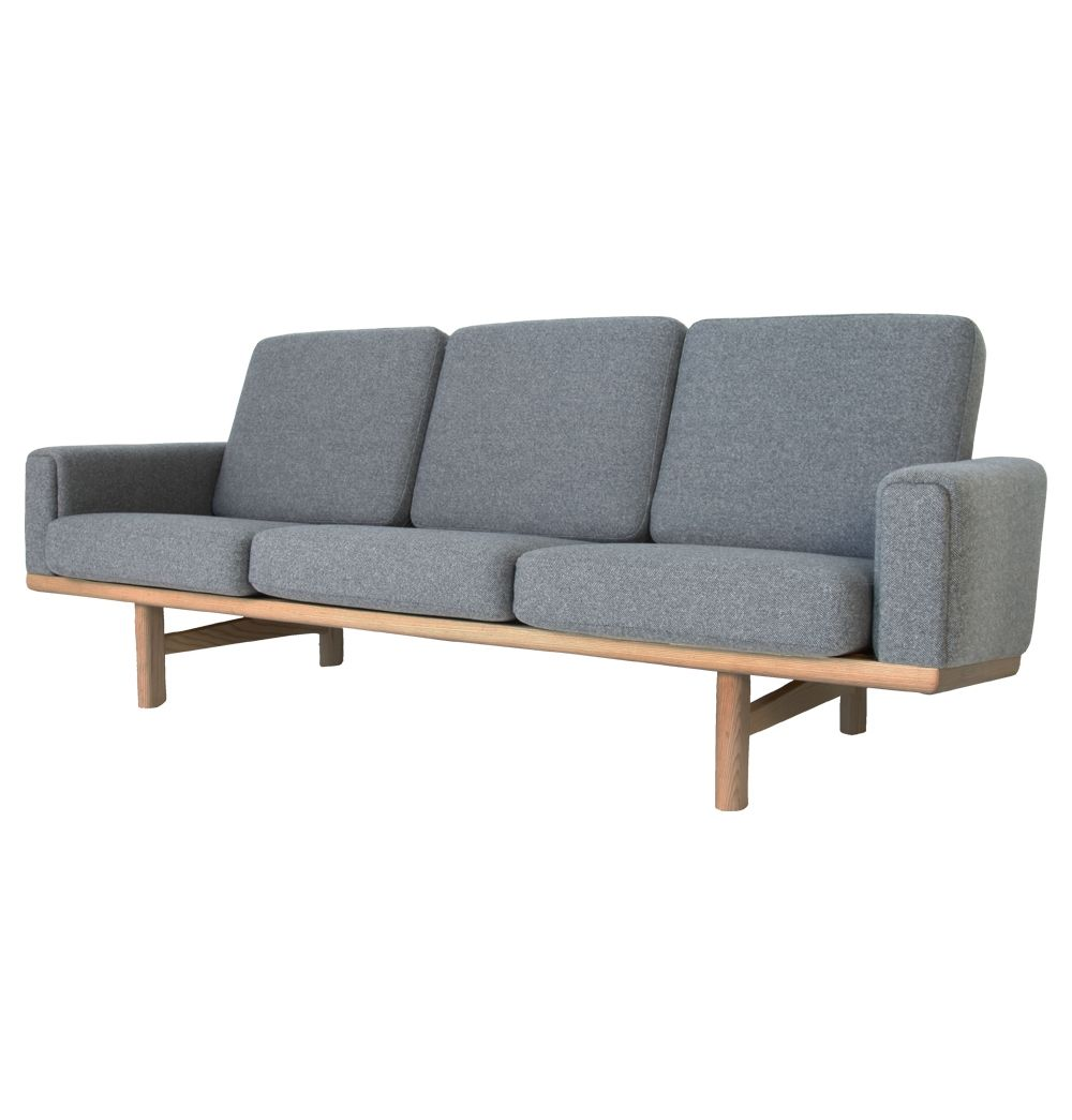 The Matt Blatt Replica Hans Wegner 236 3 Seater Sofa - Ash - Matt Blatt