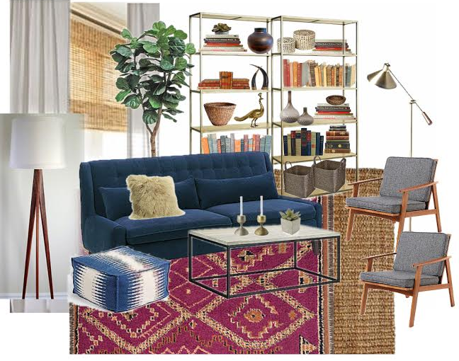 A COUPLE AFFORDABLE MOROCCAN SHAG RUGS Mid Century Modern Layered Eclectic Organic Living Room