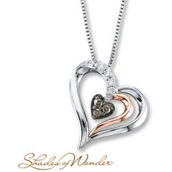 b283c99a251 Sales Jared Heart Necklace 1/8 ct tw Diamonds Sterling Silver/10K Gold-  Necklaces and Pendants new - Jared Heart Necklace 1/8 ct tw Diamonds  Sterling ...