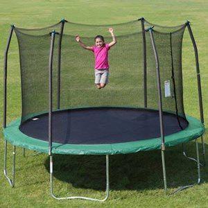 Black Friday Deal Skywalker Trampolines 12 Round Trampoline And Safety Enclosure Green Backyard Trampoline Trampoline Enclosure Trampoline