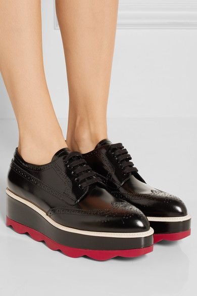 platform brogues - Brown Prada