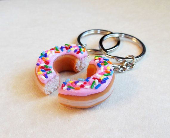 Polymer Clay Pink Strawberry Frosted Doughnut by ScrumptiousDoodle