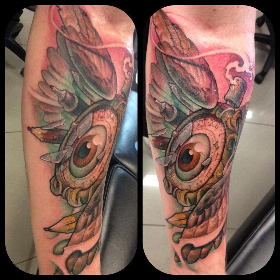 Graffiti art tattoo - Wonderful Work By My Favourite New School Tattoo Artist Victor Chil Trabalhos Maravilhosos Do Meu