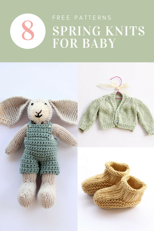 8 Baby Knitting Patterns For Spring | Crochet : animales | Pinterest ...