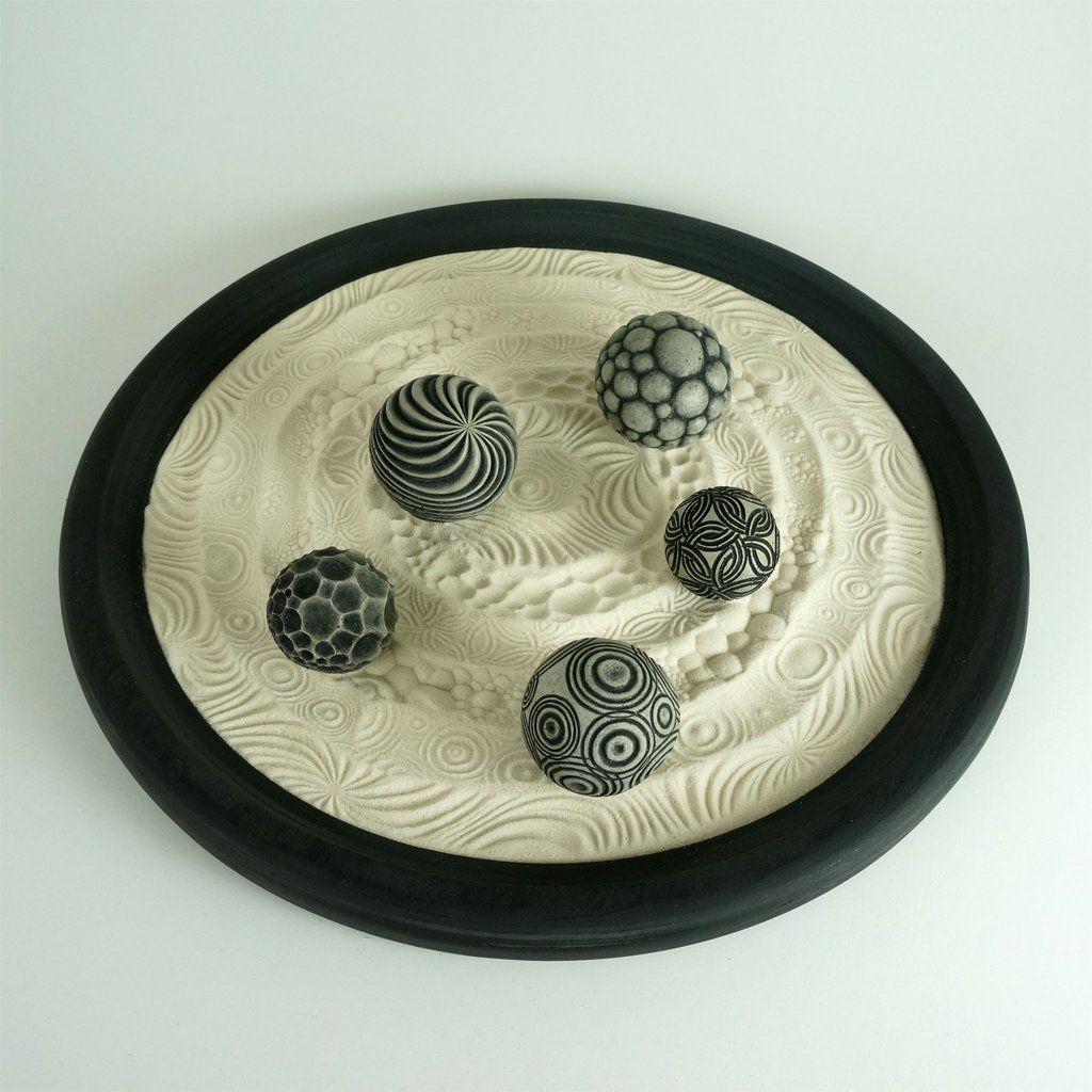 Tabletop Modern Zen Garden Circles Package 15 Circular