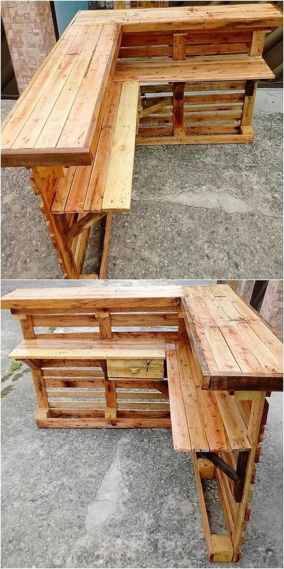 The demand for wooden pallets in the house increases because the shop counter #W
