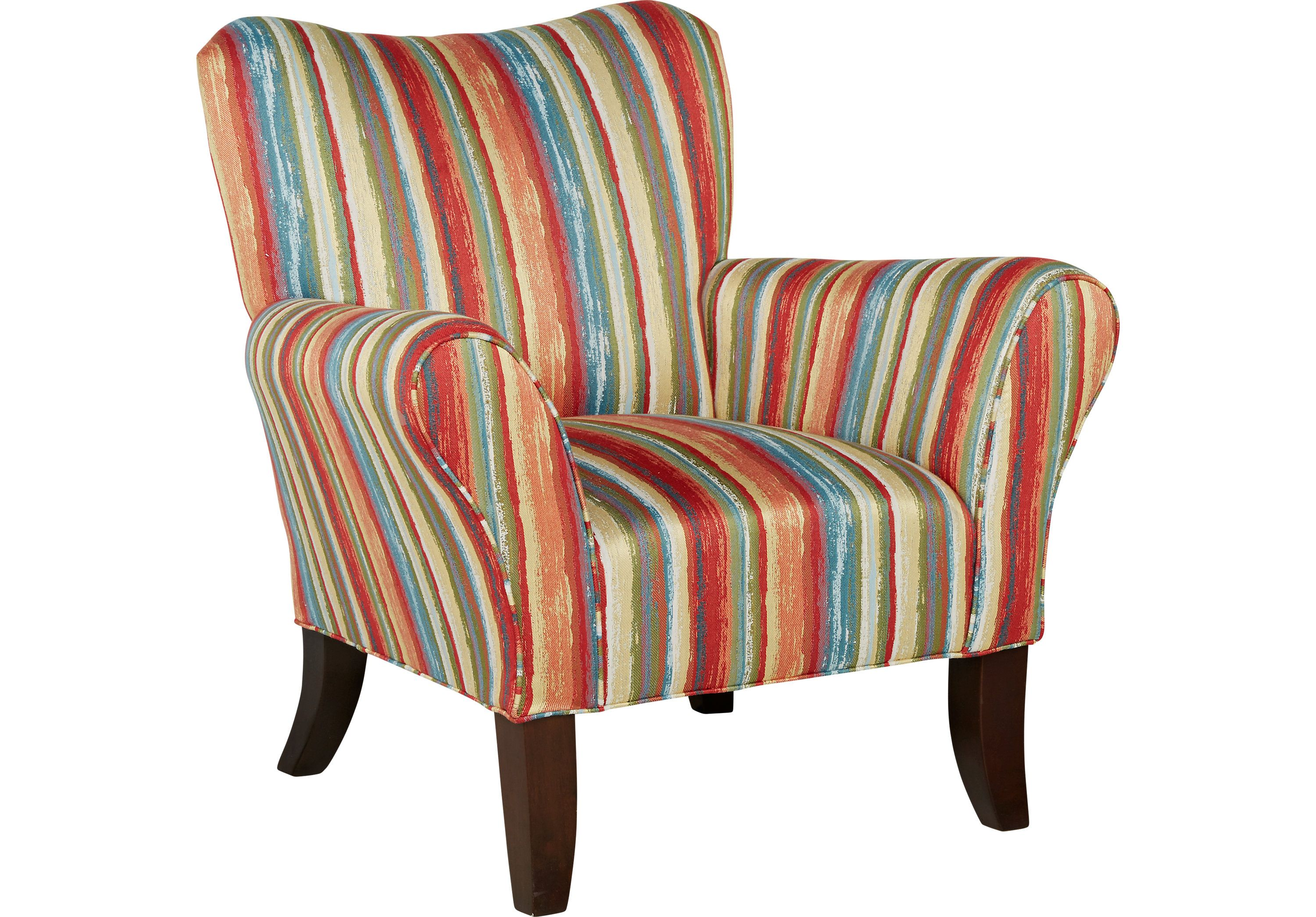 Best Painterly Stripe Accent Chair Stripe Accent Chair 640 x 480