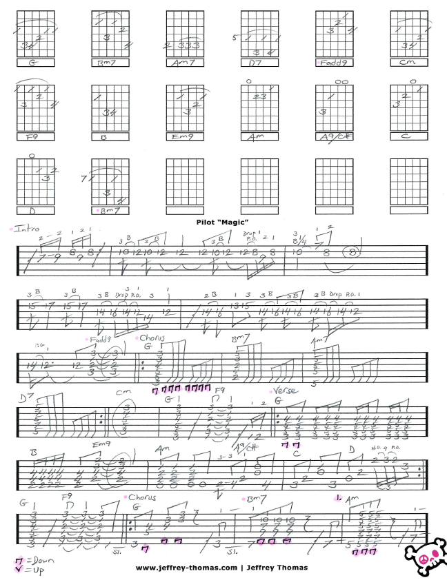Guitar Tab For Magic By Pilot On To Pg 2 Now I Am Blending The