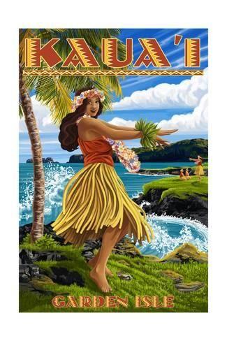 Pacifica Island Art Aloha from Hawaii by Kerne Erickson Car Window Bumper Sticker Hawaiian Art Decal