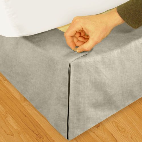 linen bed skirt from costco with no polyester | where i lay my