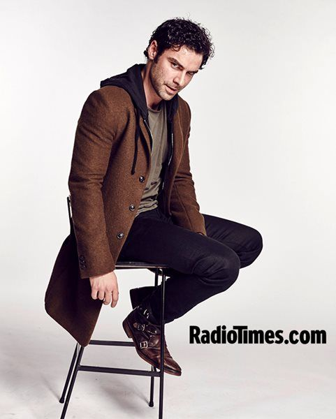 Aidan Turner strikes a pose at the Radio Times Covers Party