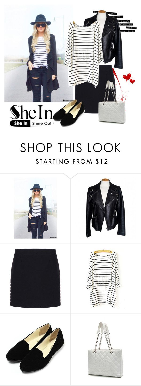 """T - shirt"" by woman-1979 ❤ liked on Polyvore featuring Alexander McQueen, Balenciaga, Blanc Noir and Chanel"