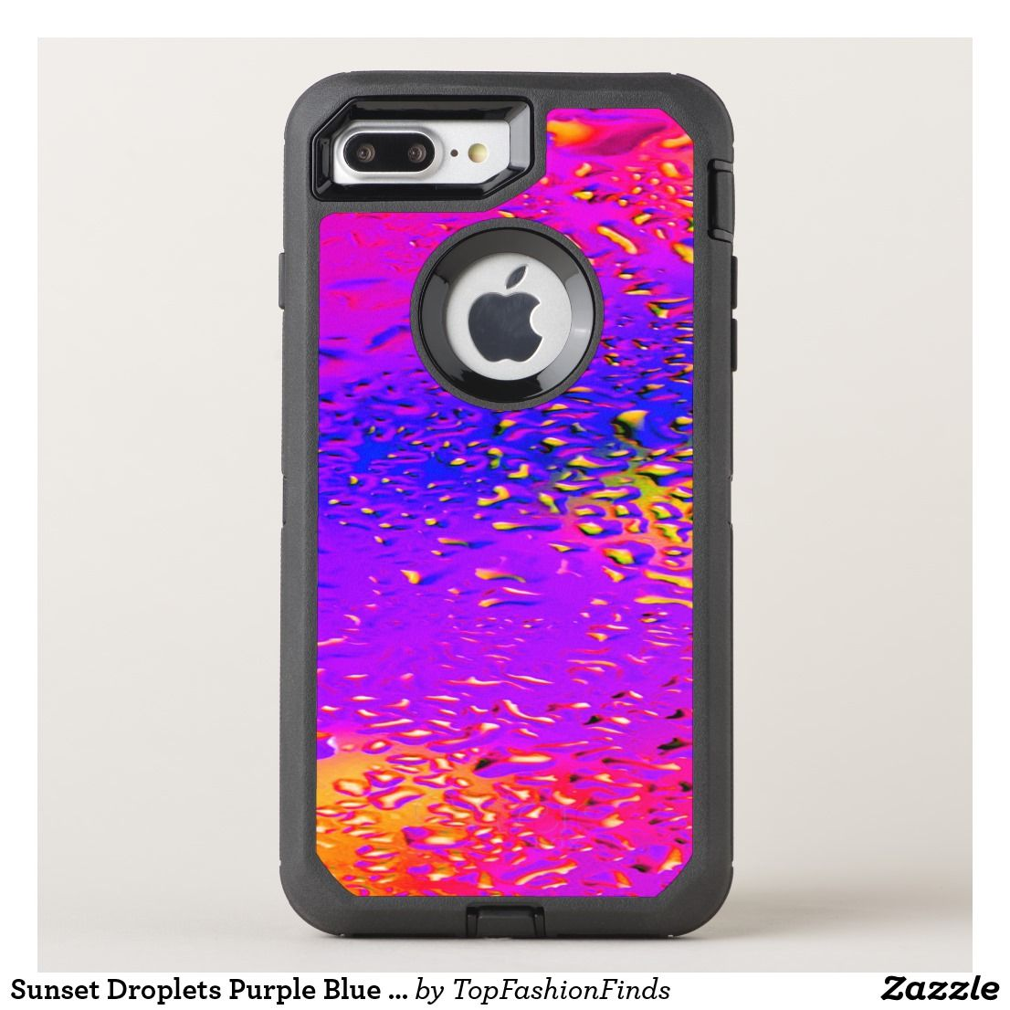 Sunset Droplets Purple Blue Pink Otterbox Iphone Case Zazzle Com Iphone Cases Otterbox Case Iphone