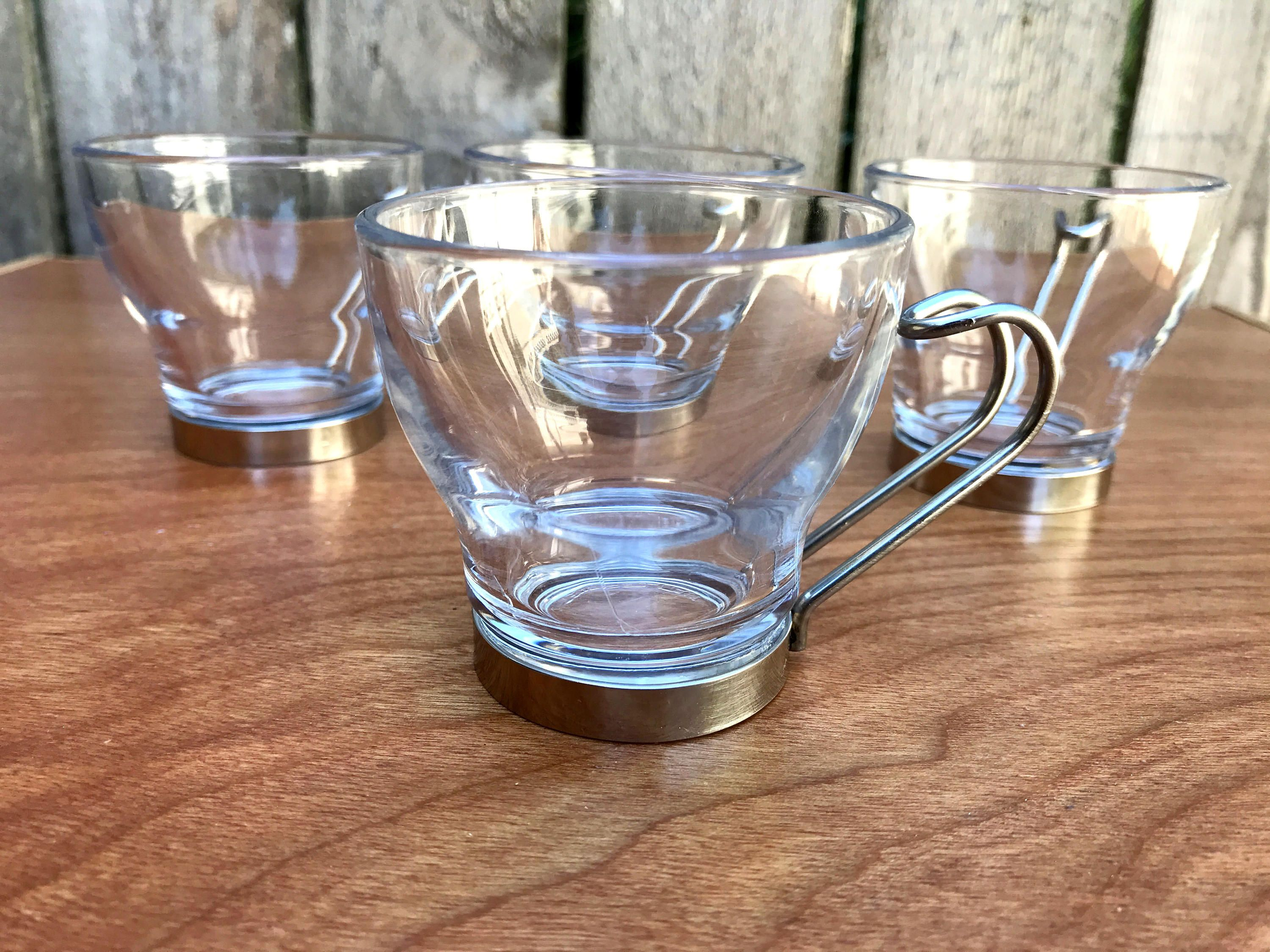 Vintage Bormioli Rocco Espresso Cups Vintage Espresso Cups Retro Glasses Made In Italy Mid Century Modern Glass Bormioli Rocco Retro Glasses Espresso Cups