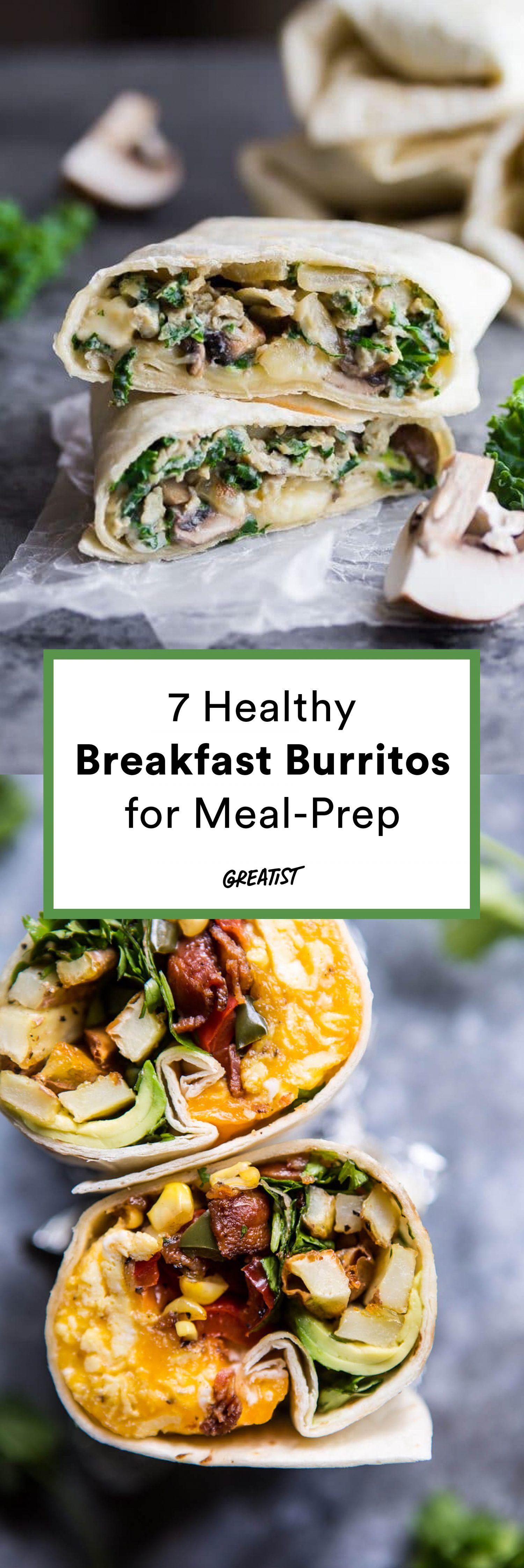 7 Breakfast Burritos You Can Meal Prep Freeze And Reheat Healthy Breakfast Wraps Healthy Breakfast Burrito Clean Eating Breakfast