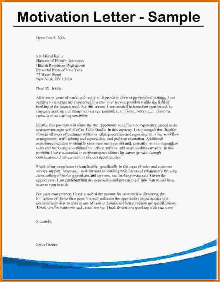 10 Motivational Letter For Bursary Application Sample Receipts Template Motivation Letter For Job Motivational Letter Job Cover Letter