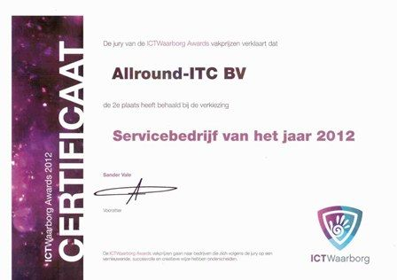 Servicebedrijf van het jaar 2012