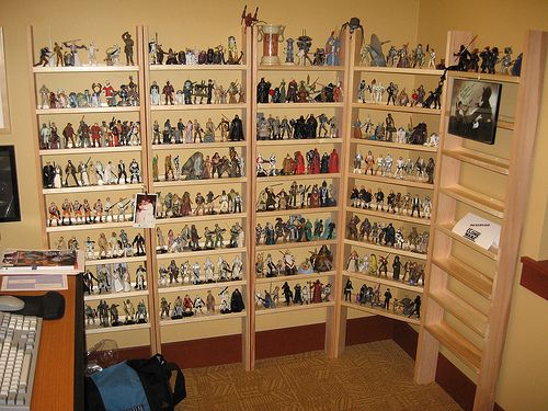 Action Figure Display Shelves Neat Action Figure Display Stand Made From Some Ikea Wood Shelves And Kid Toy Storage Playroom Organization Display Shelves