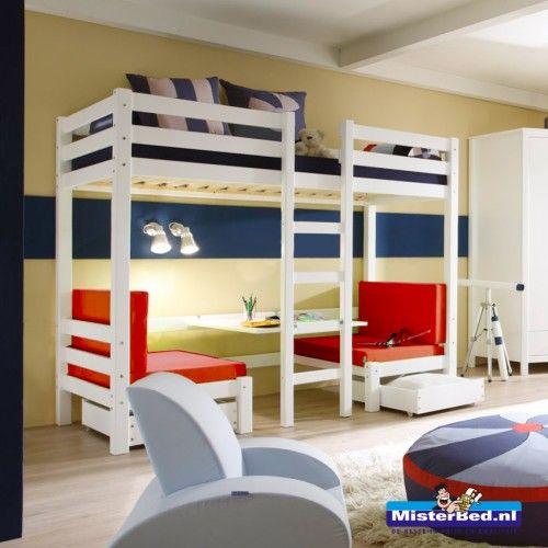 Flexworld Stapelbed Star.Hoogslaper Stapelbed Met Tafeltje Nina S Bedroom